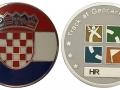 Croatia Flag Micro Geocoin