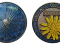 Dandelion - Summer Lightning - Antique Nickel - blue