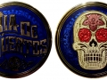 Day Of The Dead Geocoin - blau