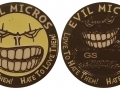 Evil Micro 2015 Geocoin - Black Nickel Glow