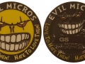 Evil Micro 2015 Geocoin - Black Nickel