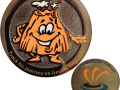 Vulkanius Geocoin RE - orange glow i.t.dark